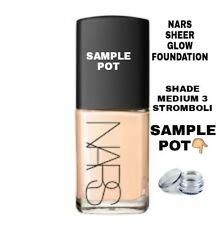 NARS SHEER GLOW FOUNDATION SAMPLE POT SHADE STROMBOLI (MEDIUM 3)