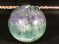 "76MM Purple/Green Fluorite Sphere From China, 744 Grams  ""Genius Stone"""