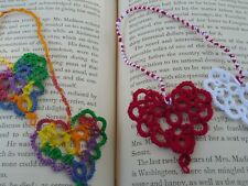 2 New Dove Country Tatted Christmas Bookmarks Heart to Heart Lacey Tatting