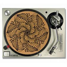Mandala Leaf Vinyl CORK DJ SLIPMATS / Turntable SLIP MATS