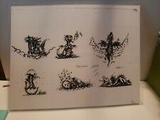 """Tattoo Flash Baby Dragons 11"""" × 8"""" laminated copy tattoo ideas y4"""