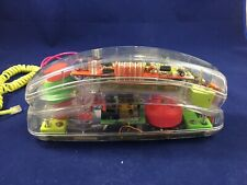 Clear Plastic~Push Button Phone~Vintage~70's-80's~C hords Conair Sw 205