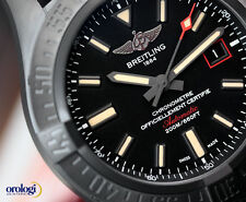 Breitling Men's Avenger Blackbird 44 Black Titanium on Military Automatic Watch