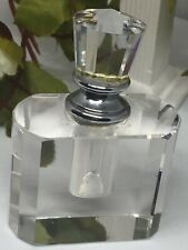 Beautiful Faceted Clear Crystal Glass Perfume Scent Bottle With Stopper