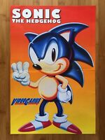 Official Vintage Sonic the Hedghog 3 Foldout Poster Sega Genesis 1994 Authentic!