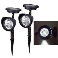2 piezas de Lampara 4 LED jardin solar Luz focos al Aire Libre Spot Light Outdoo