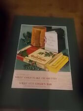 Vintage 1938 WILLS GOLD FLAKE Cigarettes CHRISTMAS Smoking PIPE Tobacco Advert