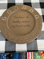 Family Wall Plate Babara Lloyd Hearthside Collection