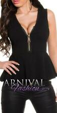 Peplum Casual Textured Tops & Blouses for Women