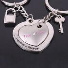 2Pcs Fashion Love Heart Keyring Couple Keychain Key Ring Keyfob Lover Gift