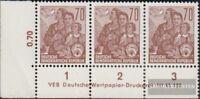DDR 585B DV mit Druckvermerk postfrisch 1957 Fünfjahresplan