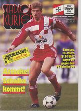 Programm   TSV Bayer 04 Leverkusen - FC Schalke 04  1. Bundesliga Saison 1991/92