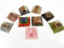 Assroted Mix Orgonite Positive Pyramids Colored Copper Wired Energy Receptor