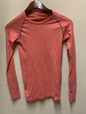 Lululemon Swiftly Tech Women's Long Sleeve Running Coral With Gray Size 6