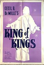 Cecil B De Mille Original Movie Poster KING OF KINGS Jesus Christ Christian Epic