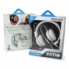 NIP JLab INTRO Premium On-Ear Headphones, with Universal Mic (White)