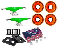 "Gullwing Pro III 9"" 155mm Green Trucks + Sector 9 58mm 78a Orange Wheel Combo"