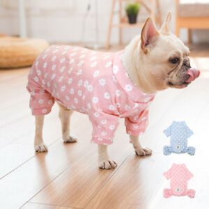 Cotton Soft Dog Pajamas Puppy Small Dogs Jumpsuit Sleepwear for French Bulldog