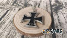 Hetalia Cosplay Costume APH German Prussia Black Metal Cross Necklace Chain
