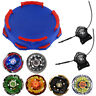 6x Beyblade Metal Fusion Fury Masters 4D System Tops Toy Set Stadium w/ Launcher