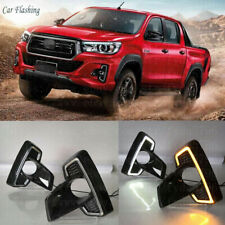 Exact Fit Toyota Hilux Revo Rocco 2018-up Switchback LED DRL Light w/Turn Signal