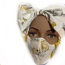Winnie The Pooh Tigger Piglet Eeyore Headband Face Mask Pouch Bundle Reusable