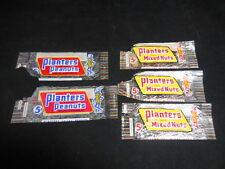 Rare Lot 5 Vintage 1950s 1960s Planters Peanuts and Candy Wrappers Packaging 5 c