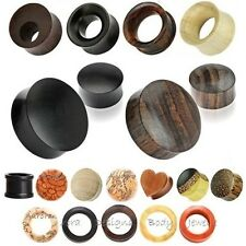Exotic Wood Saddle Ear Plug - Flesh Tunnel Stretcher Double Flared Wooden