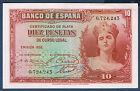BILLET de BANQUE D'ESPAGNE de 10 PESETAS Pick n° 86 de 1935 en SPL O,724,243