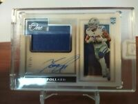 2019 Tony Pollard Panini One Encased RC Patch Auto Cowboys /99 2 Color Jersey
