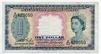 Malaya & British Borneo 1 Dollar Banknote 1953 QEII as pictured Rare