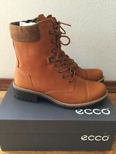 ecco women's combat boots size 40 new with box