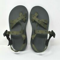 Men's CHACO Z2 CLASSIC Green Pattern Strap Sport River Sandals US 7 UK 6 EU 40