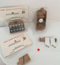 NOS Vintage Miniature Dollhouse Wood Handicraft Kitchen Decor