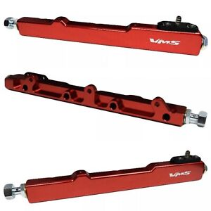 Hi-Flow Fuel Rail in Red For Honda and Acura B16 B17 B18 B20 CRV Civic Integra