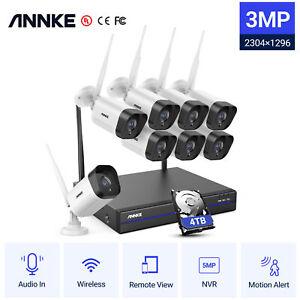 ANNKE 3MP WLAN Überwachungskamera 8CH 5MP NVR WIFI IP Kameras Audioüberwachung