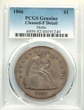 1866 PCGS Civil War Era Fine Details Seated Silver Dollar Crusty Very Tough Date