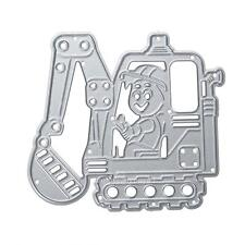 Excavator Metal Cutting Dies Stencil DIY Scrapbooking Album Paper Card Craft Hot