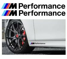 Für BMW M Paket M Performance Aufkleber Set Sticker Symbol Tuning Logo Weiß