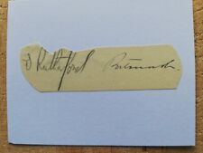 More details for septimus rutherford portsmouth legend 1934 cup final hand-signed index card