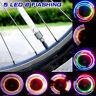 2 x 5 LED Lamp Flash Tyre Wheel Valve Cap Light For Car Bike Bicycle Motorcycle