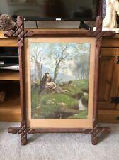 More details for antique framed print in an ornate hand carved frame