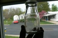 UNIQUE 1918 1/2 pint Milk Bottle POST-RAYMOND DAIRY CO. BY THATCHER MFG. CO.