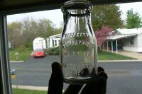 UNIQUE 1918 1/2 pint Milk Bottle POST-RAYMOND DAIRY CO. BY THATCHER MFG. CO.
