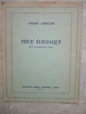 Pieza Elegiaque para contrabajo y piano de Ameller * Nuevo * editor CARACAS