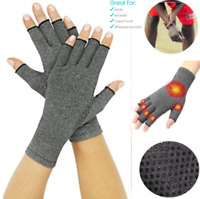 2 X Anti Arthritis Gloves Hand Support Pain Relief Arthritis Finger Compression