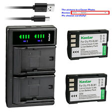 Kastar Battery LTD2 Charger for Olympus BLM-1 BLM-01 Camedia C-5060 Wide Zoom