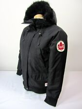 Hudson Bay Co. Canada Olympic Women's S Black Hooded Winter Jacket