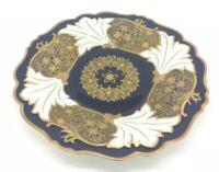 "Echt Weimar Kobalt Blue Jutta Bavaria Germany Porcelain Plate Gold Flowers 10"""