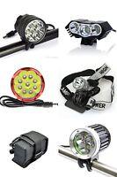 9 LED Fahrrad Scheinwerfer Fahrradlampe CREE XM-L-T6 10800 lm mit Akku Rücklicht